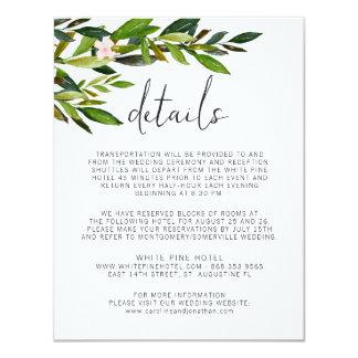 Grün-Hochzeits-Einladungs-Set-Einschließungs-Karte 10,8 X 14 Cm Einladungskarte