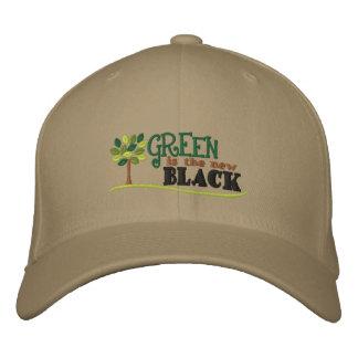 Grün ist neues Schwarzes Bestickte Baseballcaps
