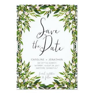 Grün kardieren Save the Date Karte