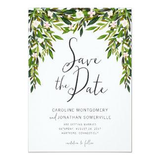 Grün kardieren Save the Date volle Namen 12,7 X 17,8 Cm Einladungskarte