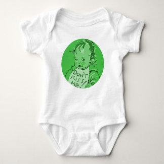 """Grün """"küssen mich nicht"""" Retro Vintages Baby Strampler"""