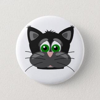 Grün-mit Augen schwarze Katze Runder Button 5,1 Cm