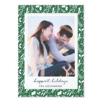Grün punktierte Grüntöne-kundenspezifische 12,7 X 17,8 Cm Einladungskarte