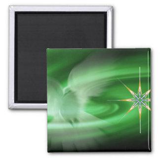 Grün-Taube u. Nordstern Quadratischer Magnet