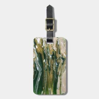 Grün u. abstrakter personalisierter Gepäck-Umbau Kofferanhänger