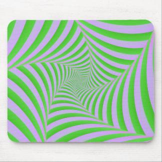 Grün und Flieder gewundenes Mousepad