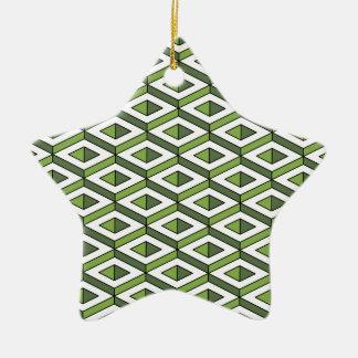 Grün und Kohl der Geometrie 3d Keramik Ornament