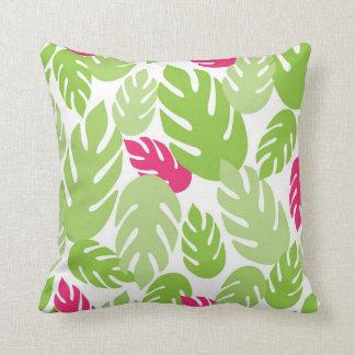 Grün-und Rosa-hawaiisches tropisches Kissen