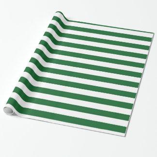 Grün und Weiß Stripes Packpapier