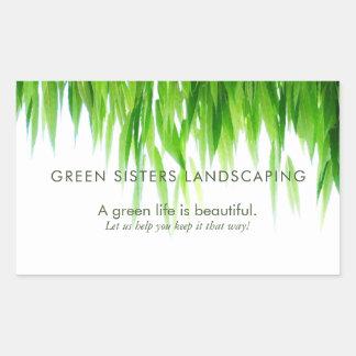 Grün verlässt Erde freundlichen Entwurf Rechteckiger Aufkleber