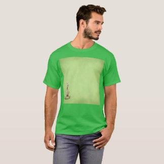 Grün versteckter linksgerichteter Gato T-Shirt