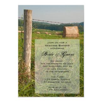 Grün weidet Land-Ranch-Polterabend einladen 12,7 X 17,8 Cm Einladungskarte