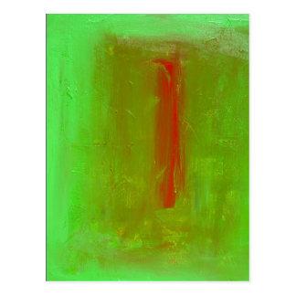 """""""Grün zum roten"""" Ehrerbietungs-Postkarten-Druck Postkarte"""