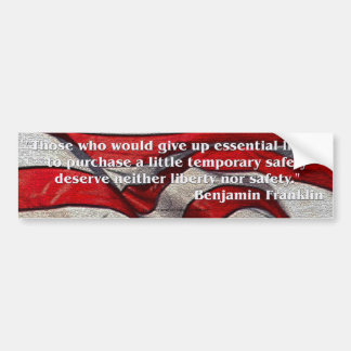 Gründervater-Zitat - Benjamin Franklin Autoaufkleber