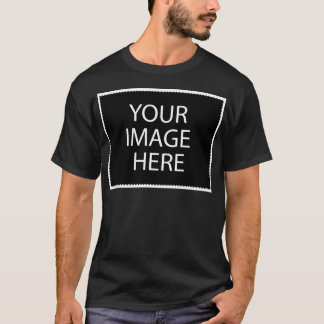 Grundlegende dunkle T - Shirt-Schablone T-Shirt