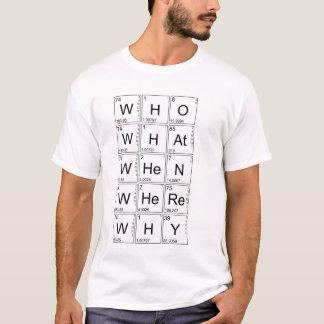 Grundlegende Fragen - WHO, WAS, WENN, WO, WARUM T-Shirt