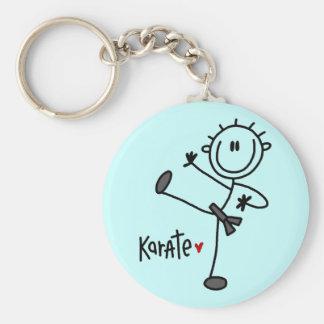 Grundlegende Strichmännchen-Karate-T-Shirts und Ge Schlüsselanhänger