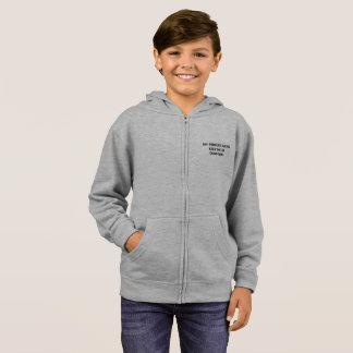 grundlegender hoodie der Kinder Zip
