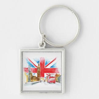 Grundlegender Knopf-Schlüsselring Londons Big Ben Schlüsselanhänger