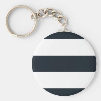 Grundlegender runder Knopf Keychain - schwarzer u. Schlüsselanhänger