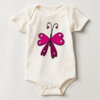 Grundlegender Schmetterling Baby Strampler