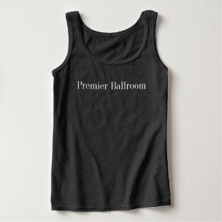Grundlegendes erstes Ballroom Tank Spitze Black