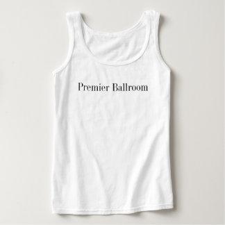 Grundlegendes erstes Ballroom Tank Spitze White