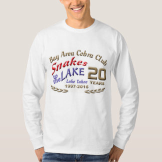 Grundlegendes langes Hülsenlogo mit 2016 Schlangen T-Shirt