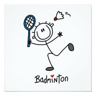 Grundlegendes männliches Strichmännchen-Badminton
