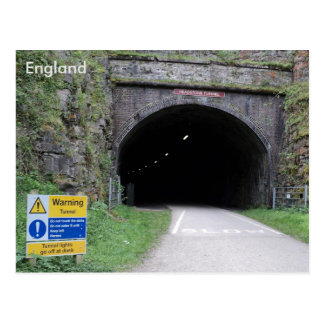 Grundstein-Tunnel, Derbyshire, England Postkarte