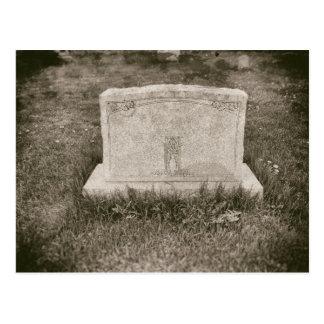 Grundsteinantiker Spuk Graveyard-alter Friedhof Postkarte