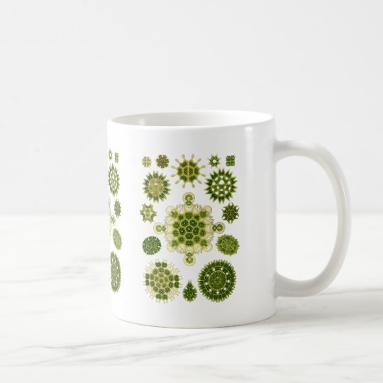 Grüne Algen Kaffeetasse