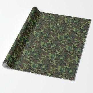 Grüne Armee-Camouflage-Trendy klassische Geschenkpapier