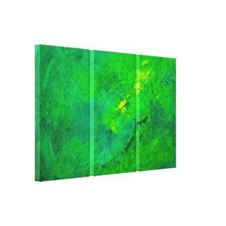 Grüne Aufregungs-abstraktes Expressionist-Acryl Leinwanddruck