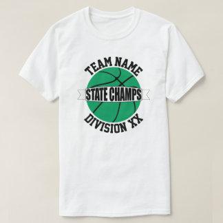 Grüne Basketball-Staats-Meisterschafts-Team-T - T-Shirt