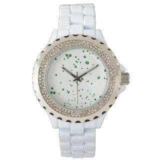 Grüne Blasen Armbanduhr