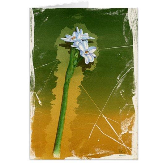 Grüne Blume Grußkarte
