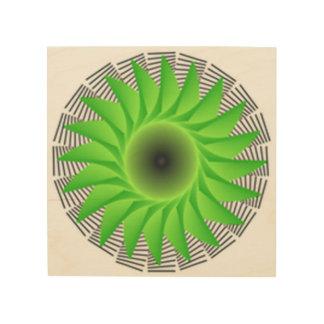 grüne Blume Holzdruck