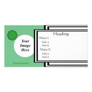 Grüne Blumen-Band-Schablone Karte