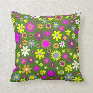 Grüne Blumenabstrakte Throw-Kissen-Wohngestaltung Kissen