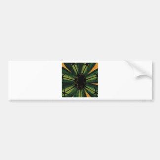 grüne Blumenblatt-Blumen Autoaufkleber