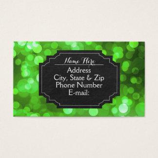 Grüne Bokeh helle Tafel-Visitenkarten Visitenkarte