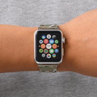 Grüne Brown-Waldtarnungs-Camouflage Apple Watch Armband