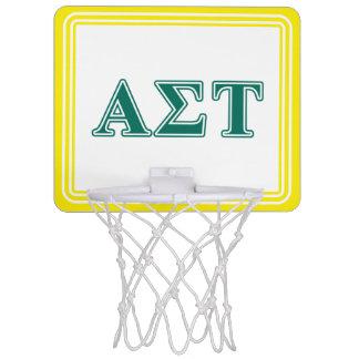Grüne Buchstaben AlphasigmaTau Mini Basketball Ring