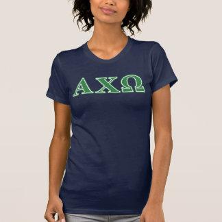 Grüne Buchstaben Alphi Chi-Omegas T-Shirt