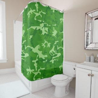 Grüne Camouflage Duschvorhang