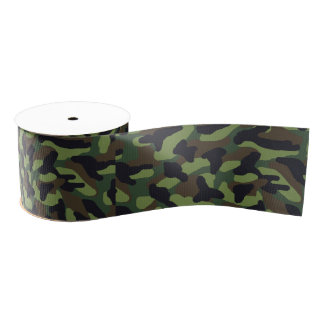 Grüne Camouflage-Tarnung Ripsband