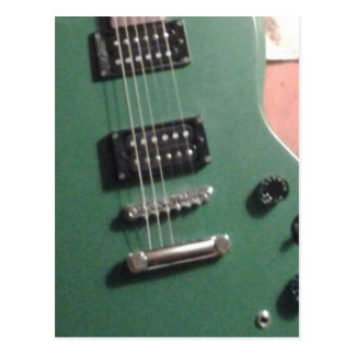 grüne E-Gitarre Postkarte