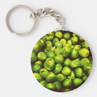 Grüne Erbsen Schlüsselanhänger