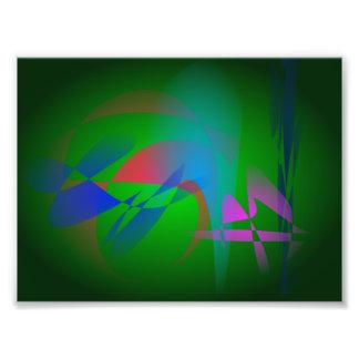 Grüne Erdabstrakte Kunst Photodruck